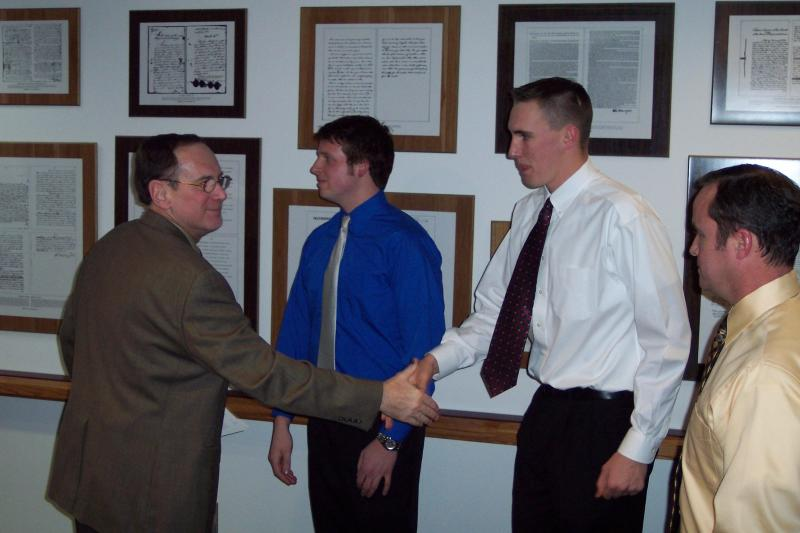 Image of Fiscal Officer Straus swears in new Green Township Part-Time Firefighters