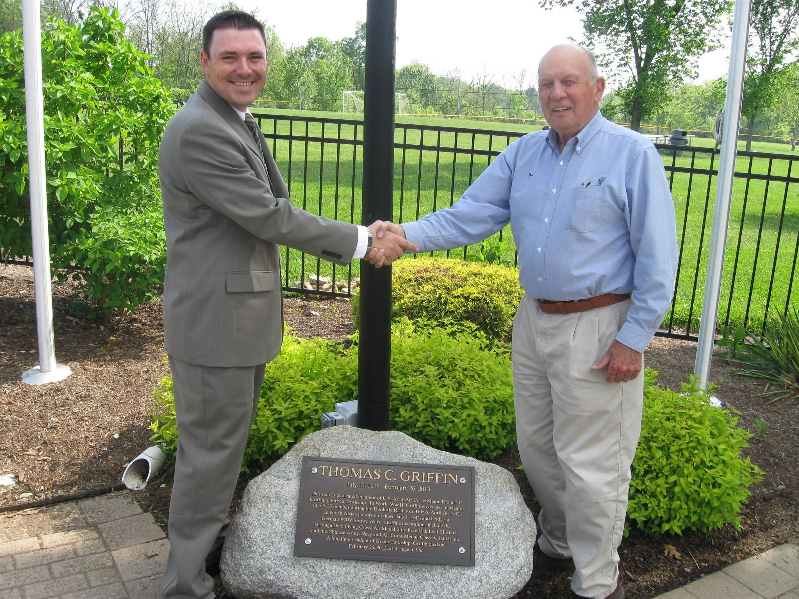 Image of Trustee Triffon Callos with Don Griffin