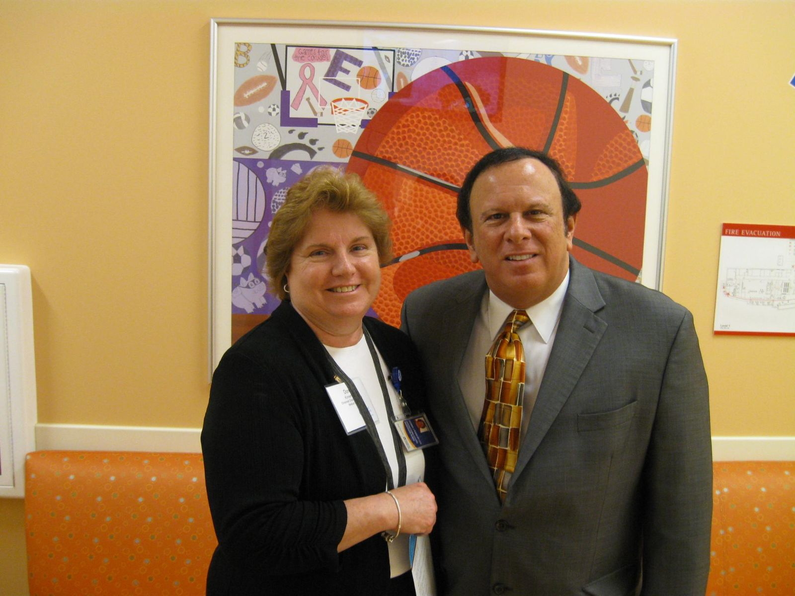 Image of Trustee Tony Rosiello and Donna Kinnemeyer from Children's Hospital