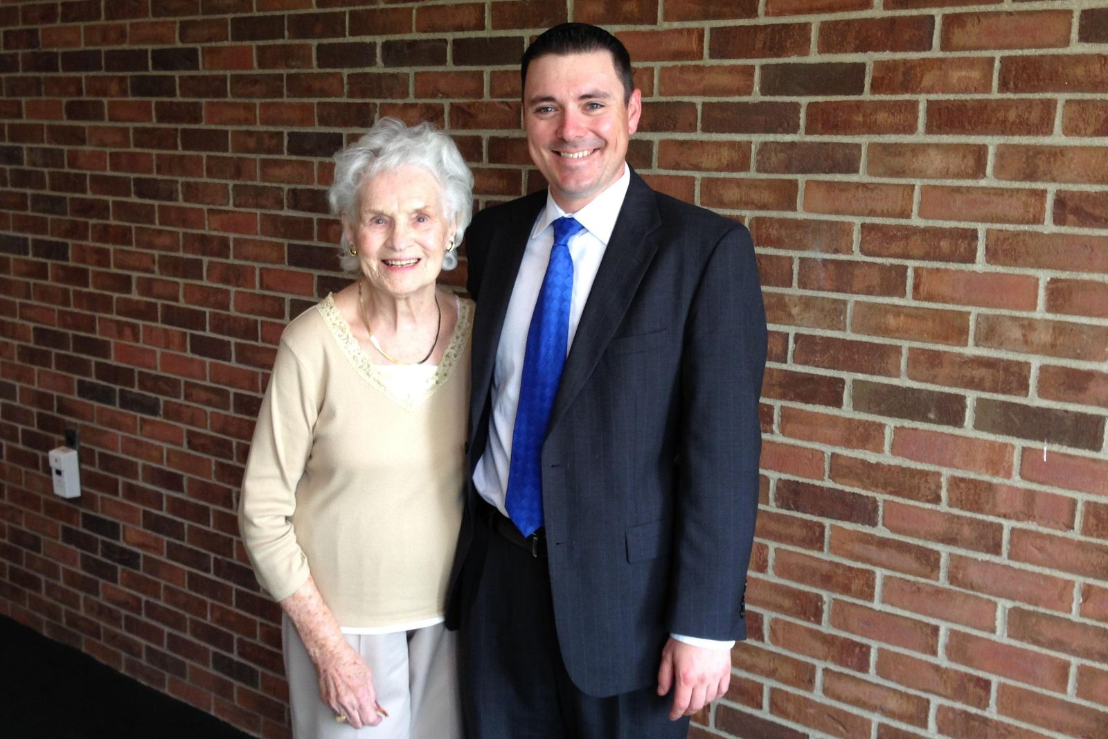 Image of Trustee Triffon Callos with his Grandmother, Marian Collins