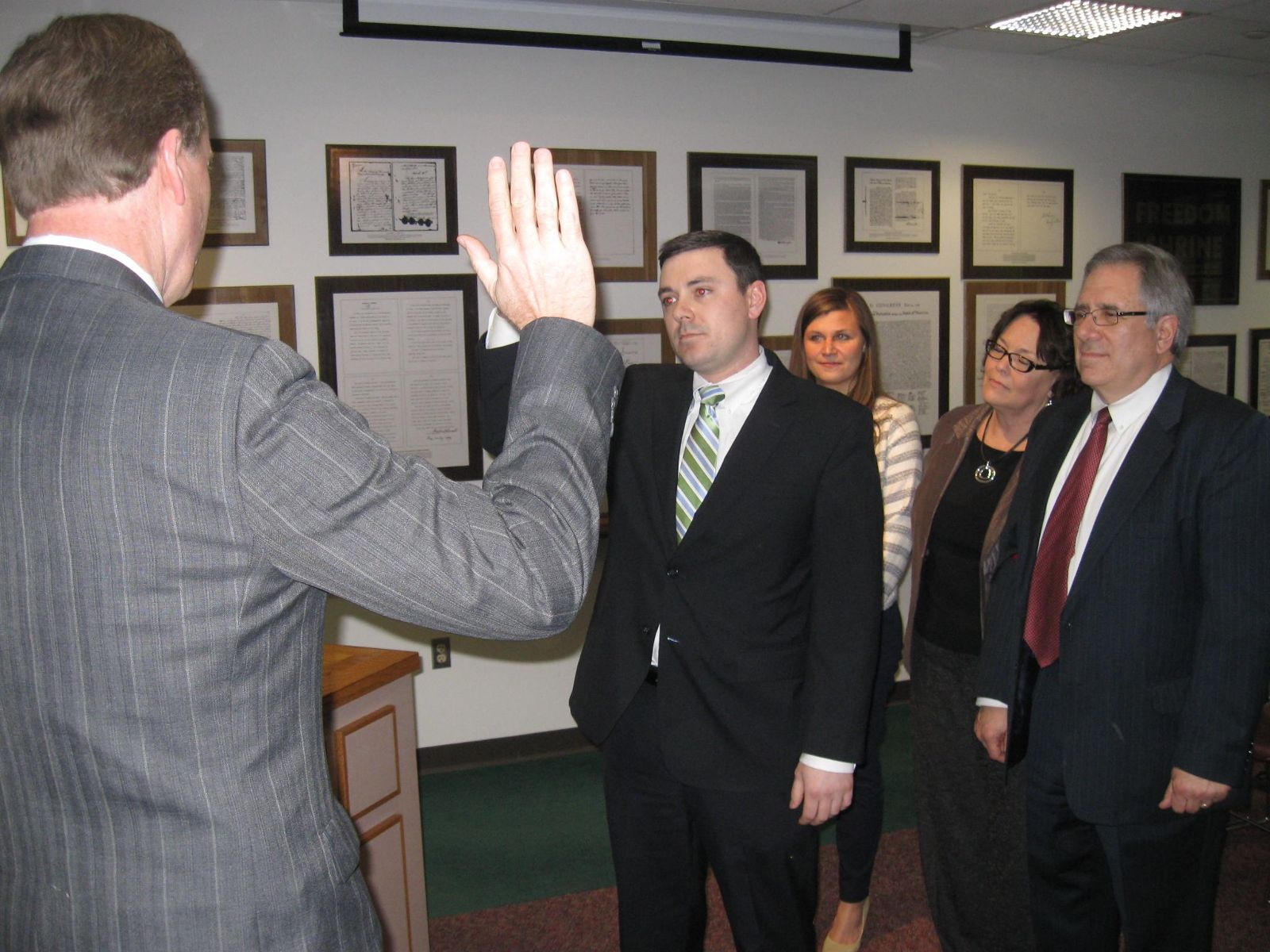 Image of Triffon Callos swearing in ceremony