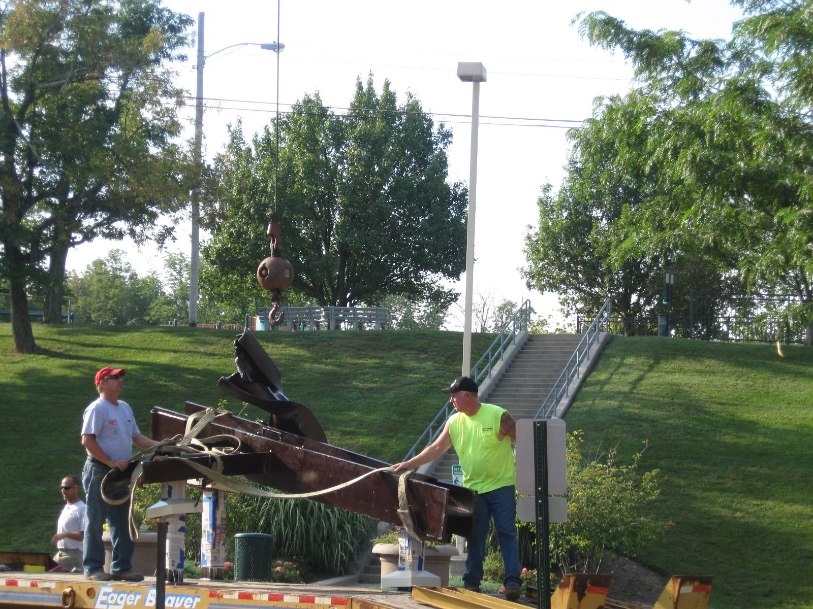 Image of Installing Steel Beam at Administration Building