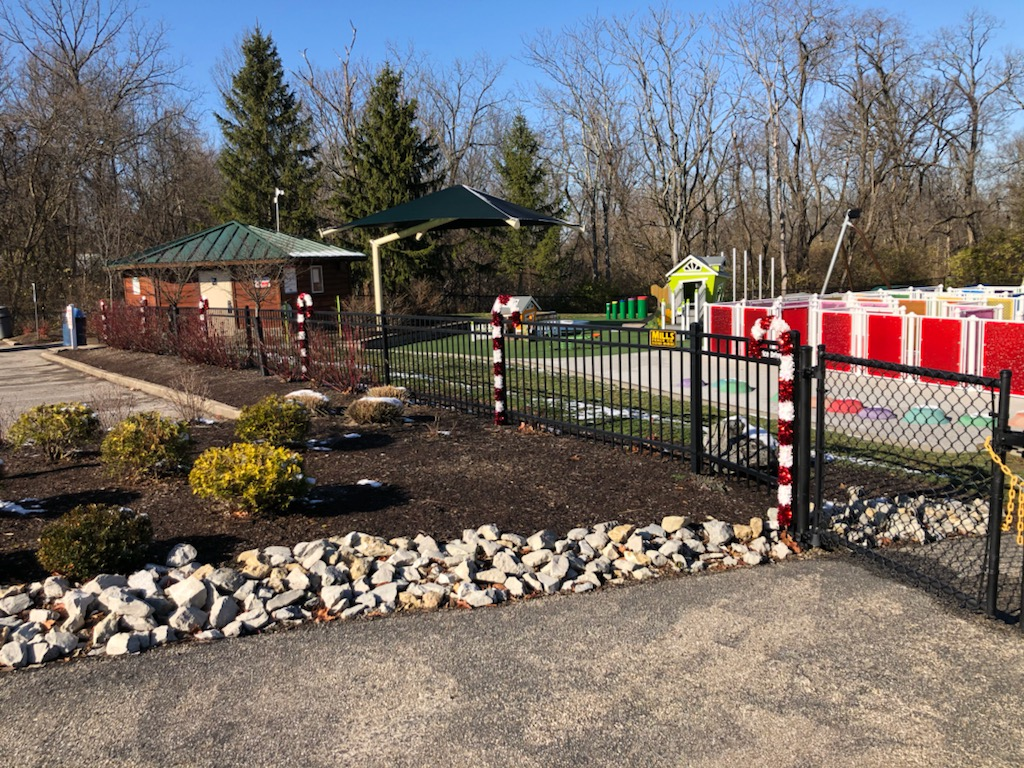 West Fork Park Decorated for Christmas